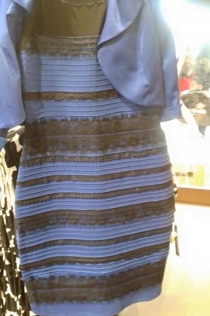 這幾天最有名的一張照片-這件洋裝是藍黑色還是白金色