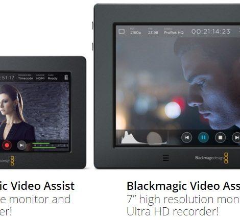 新推出 Blackmagic Video Assist 4K 監控螢幕