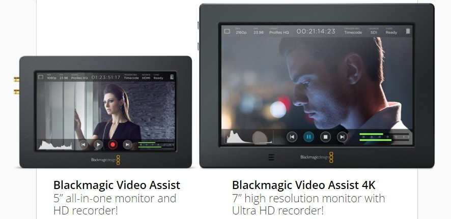 新推出 Blackmagic Video Assist 4K 監控螢幕