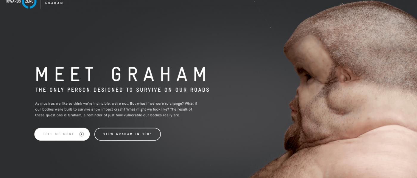 滑稽的白人男子Grant,廣告產業中存活下來的人物