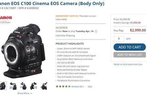 CANON C100降價 & BMCC 韌體更新Camera v2.1 Released
