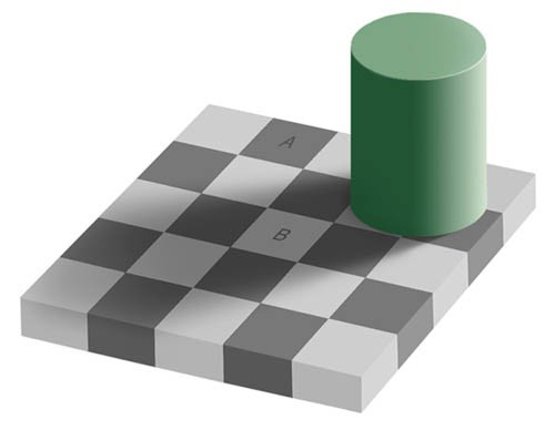 The checker shadow illusion is an optical illusion published by Edward H. Adelson