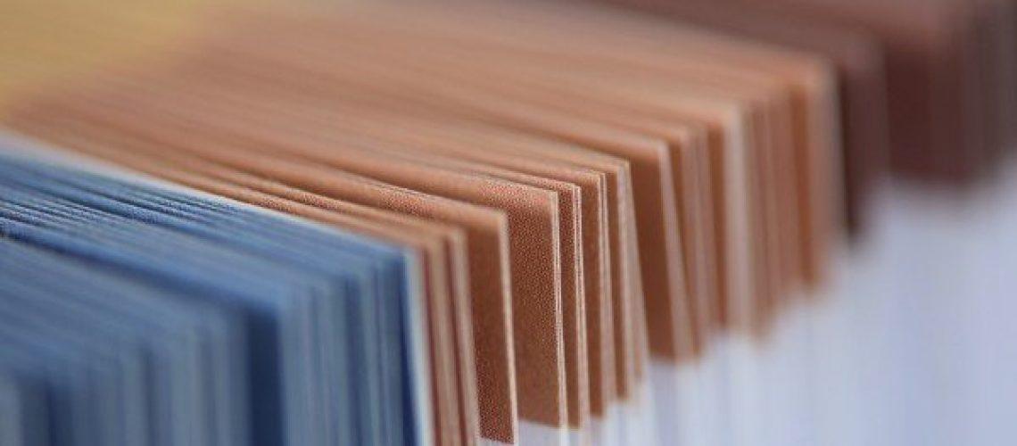 portfolio-briefcase-brown-blue-paper-colorful
